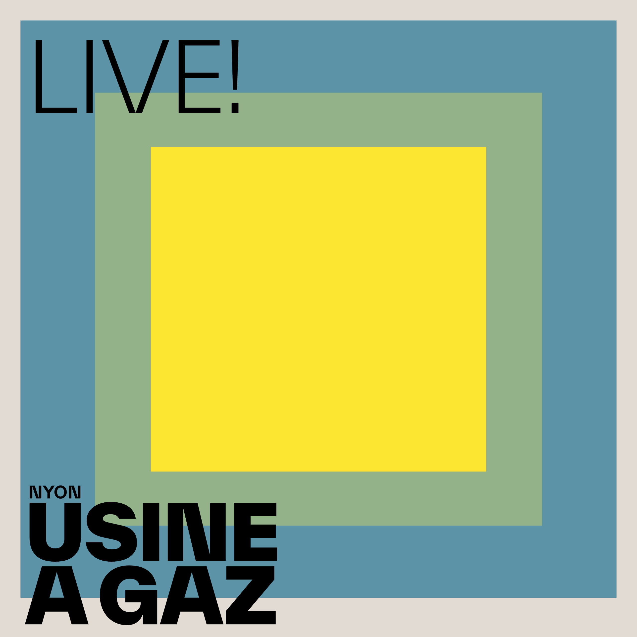LIVE! carré – Vert glauque